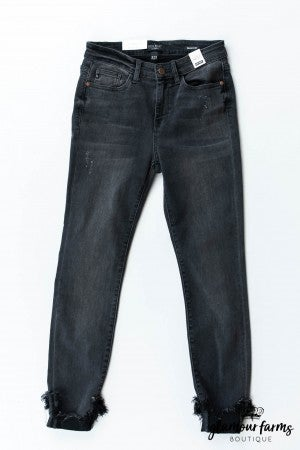 sku12779 | Destroyed Hem Skinny Jean