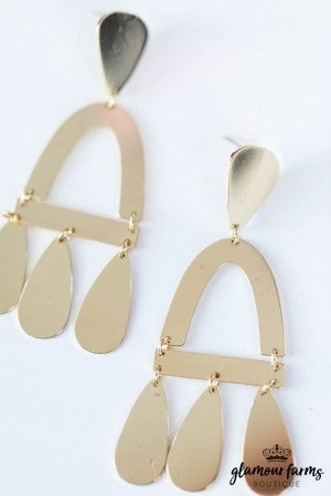 sku7865 | Arch And Teardrop Earrings