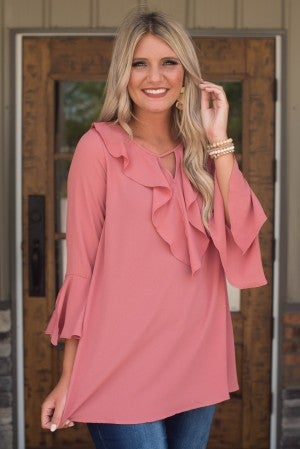 **Daily Deal** Happiness Awaits Ruffle Top