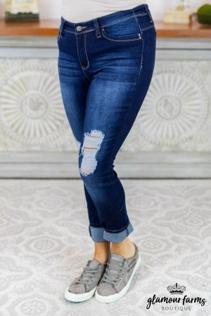 Julia Destructed Skinny Jean
