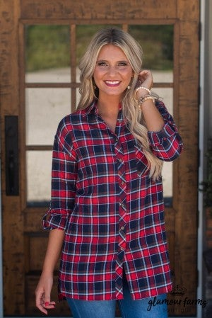 **Daily Deal** In With Plaid Tunic
