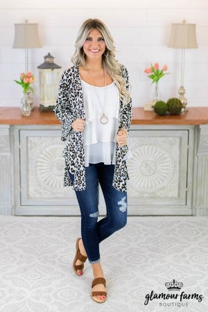 Been Spotted Animal Print Cardigan