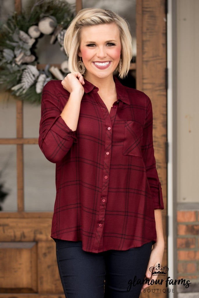 Matilda Checkered Top