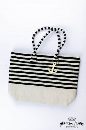 sku13250 | Striped Canvas Tote