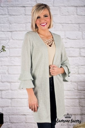 Cynthea Double Ruffle Cardigan