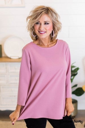 sku9175 | **DOORBUSTERS** Pearl Button Crepe Top