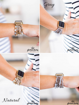 sku9304 | Beaded Stretch Apple Watch Band