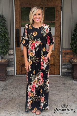 Dance With Me Floral Maxi Dress