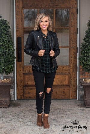 Comfort Days Plaid Top