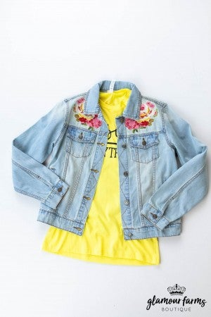 sku12782 | Embroidered Denim Jacket