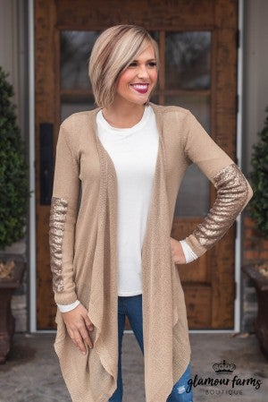 All The Sparkle Asymmetrical Cardigan