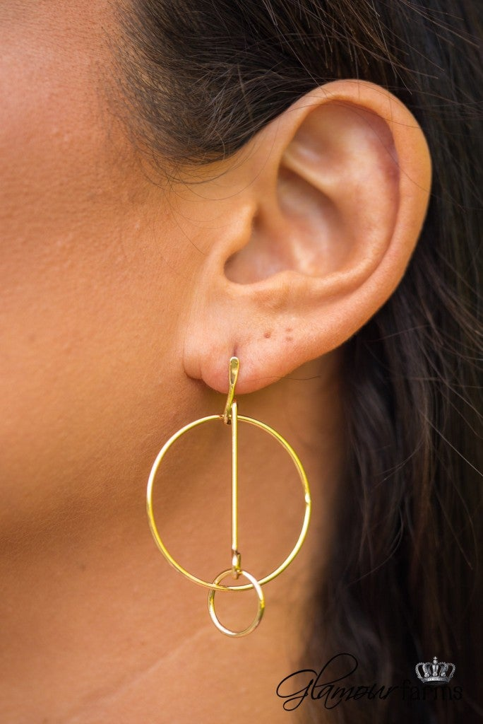 Modern Elegance Earrings - Gold