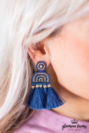 sku10115 | Beaded Tassel Earrings