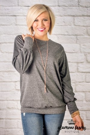 Lia Perfect Solid Sweatshirt