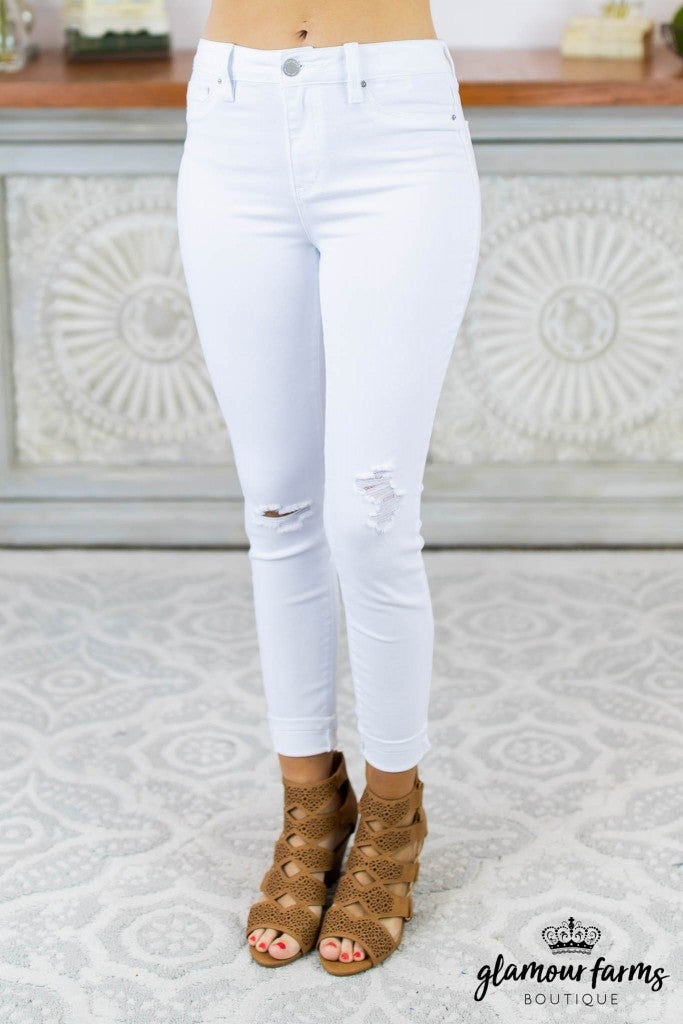 Sophia High Waist Distressed Skinny Jean