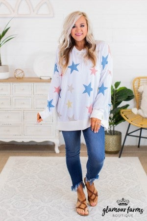 sku11929 | Star Print Tunic