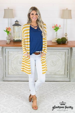 Concealed Beauty Stripe Cardigan