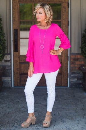 Call This Love Ruffle Sleeve Top