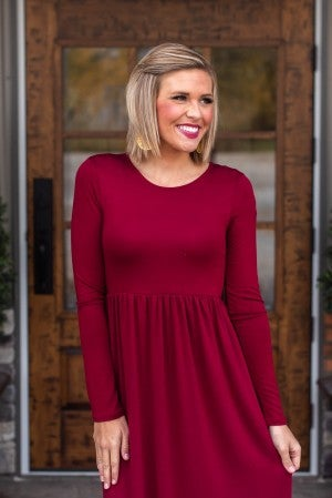 **Daily Deal** Chic To The Maxi Long Sleeve Dress