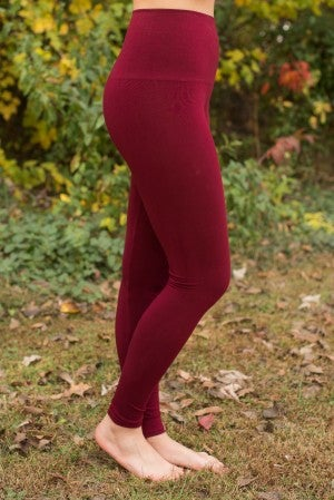 Ahh-Mazing Tummy Tuck Ankle Legging - Burgundy