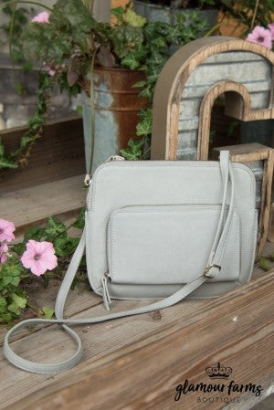 JOY SUSAN New Nicole Crossbody - Light Gray