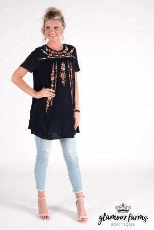 Quinn Embroidered Tunic/Dress