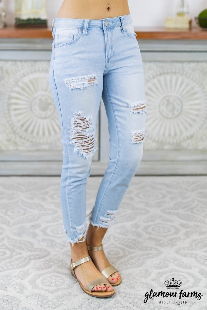 Dream Destructed Ankle Jean