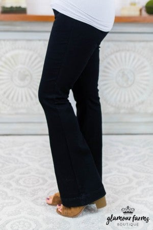 Back In Black Flare Jegging