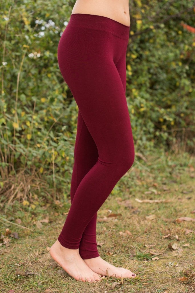 Ahh-Mazing Basic Ankle Legging - Burgundy