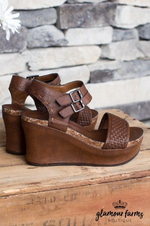 Hester Double Buckle Wedge