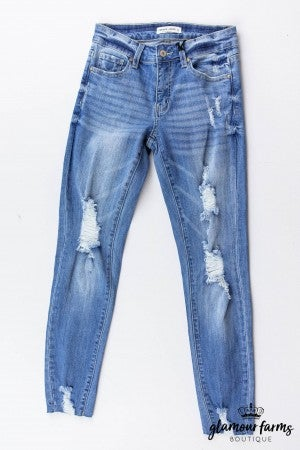 sku13400 | Destroyed Skinny Jean