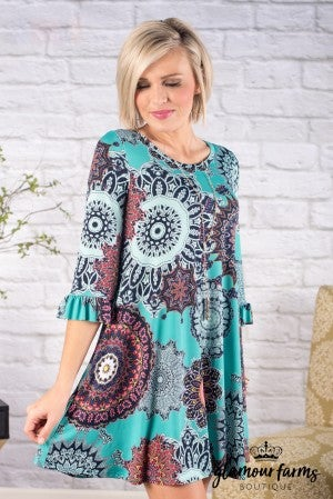 Dover Medallion Non Wrinkle Tunic/Dress
