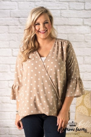 Jaylee Dot Cross Over Blouse