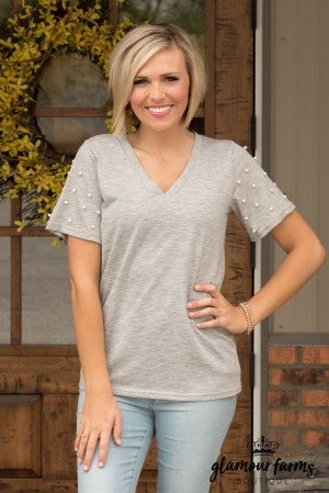 Perfect Pearl V-Neck Top