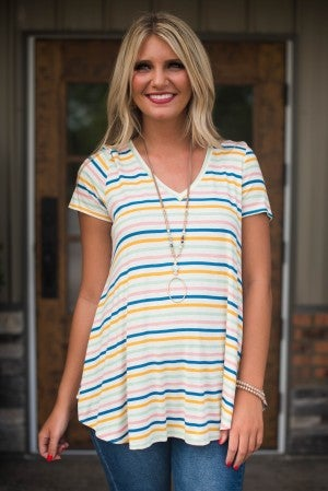 **Daily Deal** Slice Of Summer Stripe Tunic