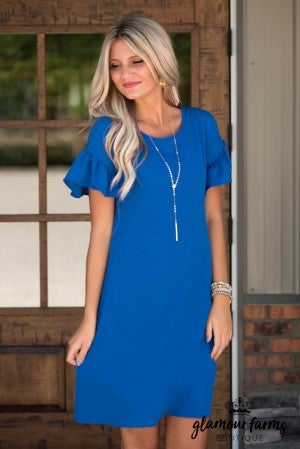 Beauty Abound Ruffle Sleeve Dress
