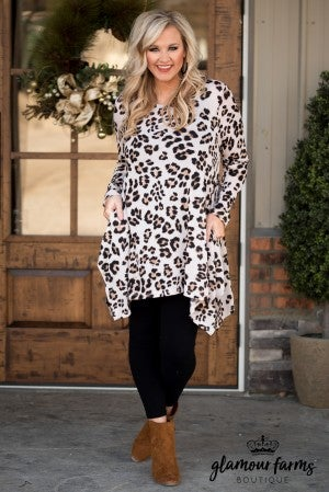 Curvy| Grace Animal Print Tunic