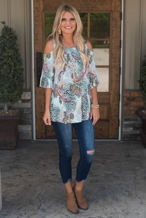 Always On My Mind Cold Shoulder Tunic