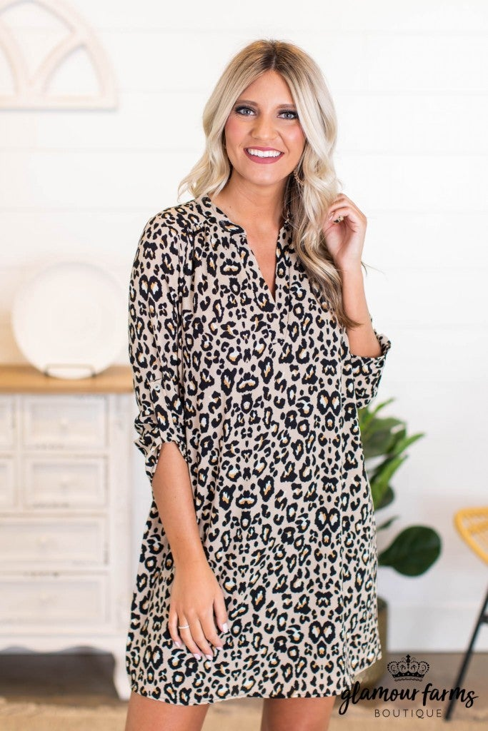 sku11007 | Animal Print Dress