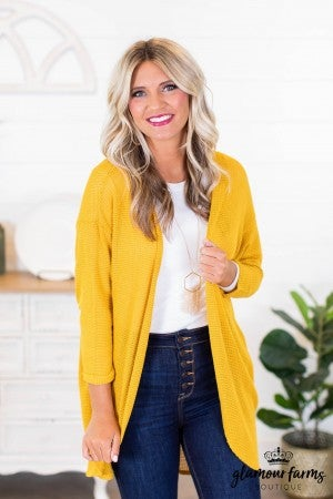 sku9164 | **Daily Deal** Easy Fit Knit Cardigan