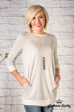 The Demi Three Quarter Sleeve Tunic