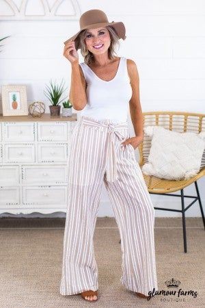 sku13434 | **Daily Deal** Striped Wide Leg Pants