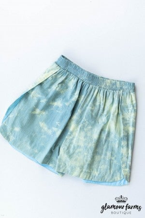 sku12594 | Acid Washed Denim Shorts