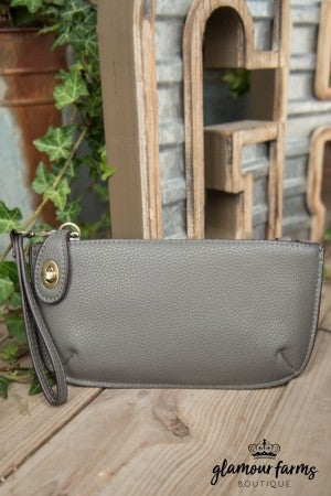Minnie Crossbody Wristlet Clutch - Charcoal