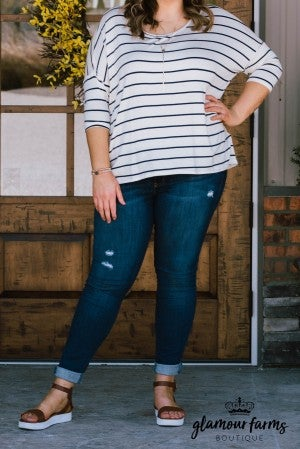 **Daily Deal**  Summer Swag Stripe Top