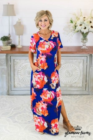 **DAILY STEAL!** Jet Lag Floral Maxi Dress