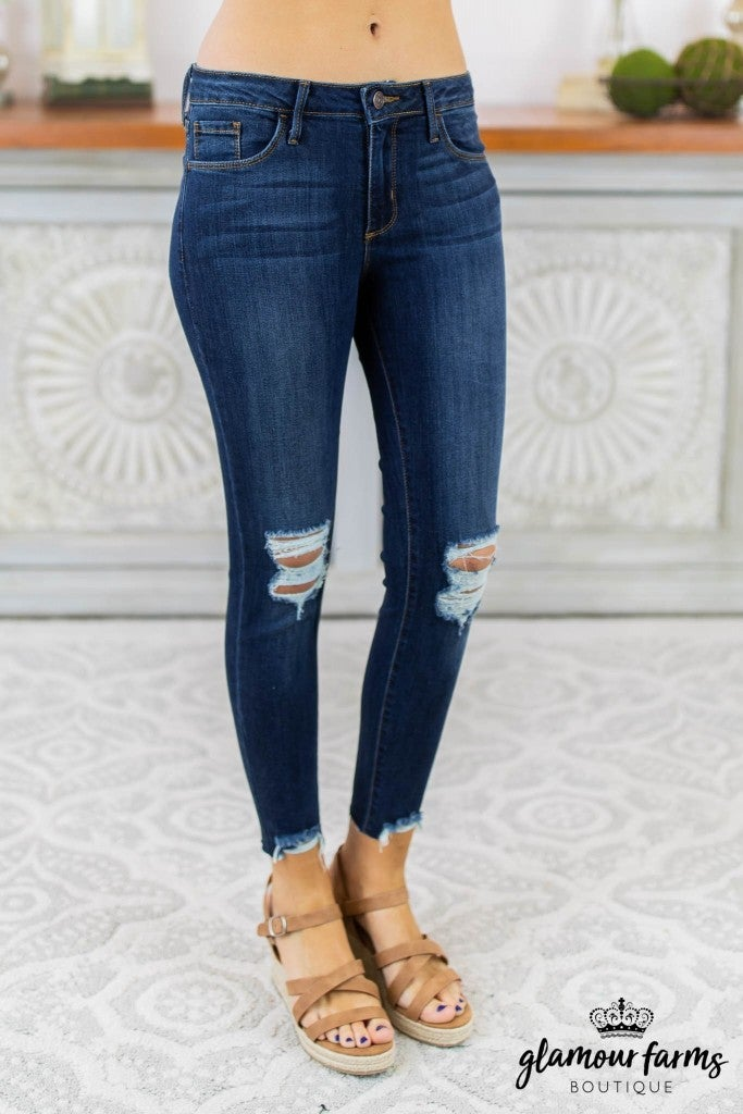 Mara Destroyed Crop Jean