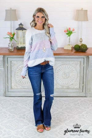 Sarah Horizon Color Block Sweater