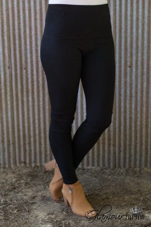 Ahh-Mazing Tummy Tuck Denim Legging - Black