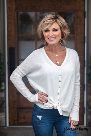 **Daily Deal** More Than Thankful Front Tie Top